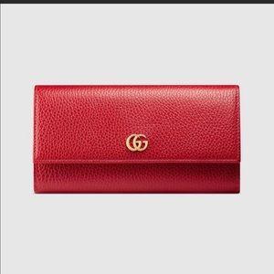 Women's Gucci Petite Marmont Leather Wallet